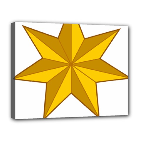 Star Yellow Blue Canvas 14  X 11  by Mariart