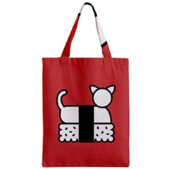 Sushi Cat Japanese Food Zipper Classic Tote Bag by Mariart