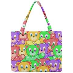 Cute Cartoon Crowd Of Colourful Kids Bears Mini Tote Bag by Nexatart