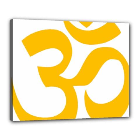 Hindu Om Symbol (gold) Canvas 20  X 16  by abbeyz71