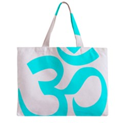 Aum Om Cyan Mini Tote Bag by abbeyz71