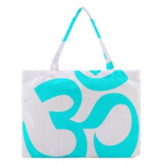 Aum Om Cyan Medium Tote Bag by abbeyz71