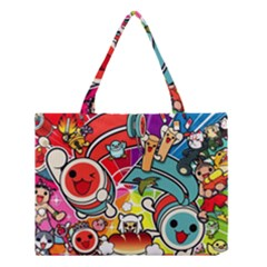 Cute Doodles Wallpaper Background Medium Tote Bag by Nexatart
