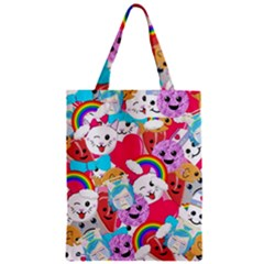 Cute Cartoon Pattern Zipper Classic Tote Bag by Nexatart