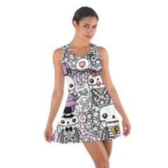Kawaii Graffiti And Cute Doodles Cotton Racerback Dress
