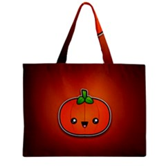 Simple Orange Pumpkin Cute Halloween Zipper Mini Tote Bag by Nexatart