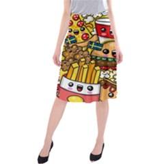 Cute Food Wallpaper Picture Midi Beach Skirt by Nexatart