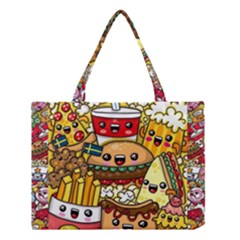 Cute Food Wallpaper Picture Medium Tote Bag by Nexatart