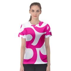 Hindu Om Symbol (deep Pink) Women s Sport Mesh Tee by abbeyz71
