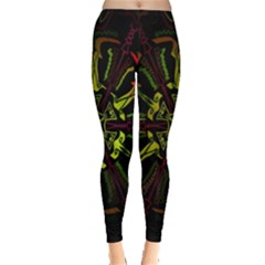 Inner Peace Star Space Rainbow Leggings  by Mariart