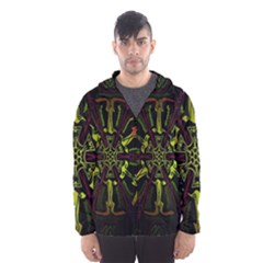 Inner Peace Star Space Rainbow Hooded Wind Breaker (men) by Mariart