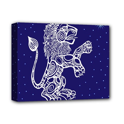 Leo Zodiac Star Deluxe Canvas 14  X 11  by Mariart