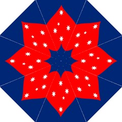 Love Heart Star Circle Polka Moon Red Blue White Hook Handle Umbrellas (large) by Mariart
