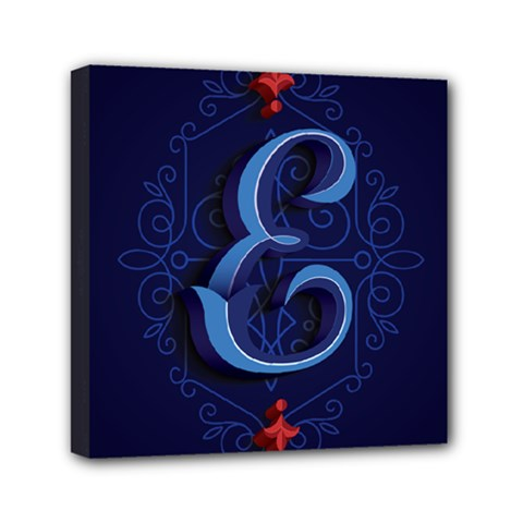 Marquis Love Dope Lettering Blue Red Alphabet E Mini Canvas 6  X 6  by Mariart