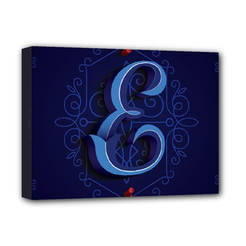 Marquis Love Dope Lettering Blue Red Alphabet E Deluxe Canvas 16  X 12   by Mariart