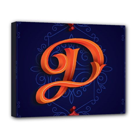 Marquis Love Dope Lettering Blue Red Orange Alphabet P Deluxe Canvas 20  X 16   by Mariart