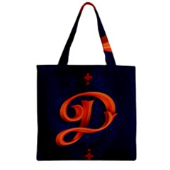 Marquis Love Dope Lettering Blue Red Orange Alphabet P Zipper Grocery Tote Bag by Mariart