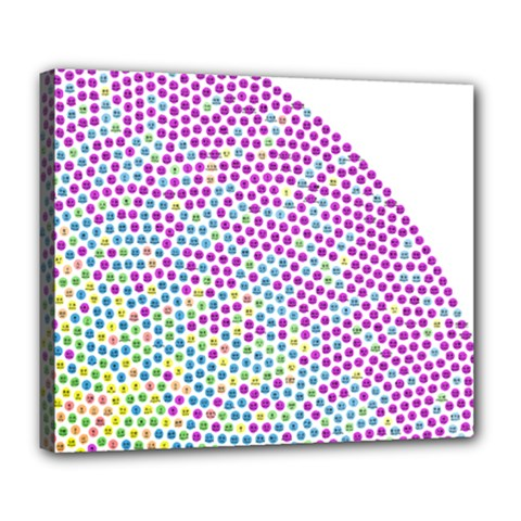 Japanese Name Circle Purple Yellow Green Red Blue Color Rainbow Deluxe Canvas 24  X 20   by Mariart