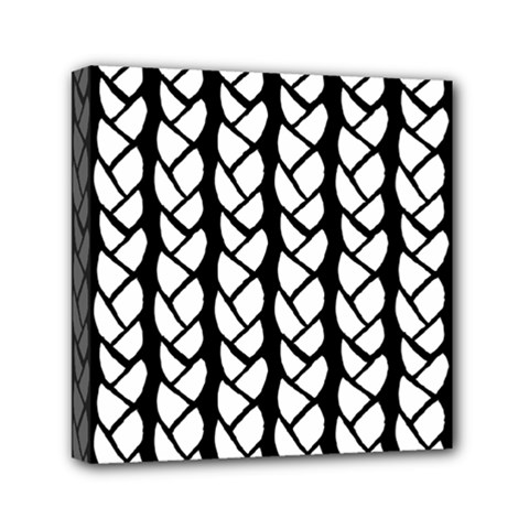 Ropes White Black Line Mini Canvas 6  X 6  by Mariart
