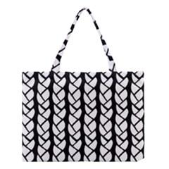 Ropes White Black Line Medium Tote Bag by Mariart