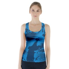 Floral Pattern Racer Back Sports Top by ValentinaDesign