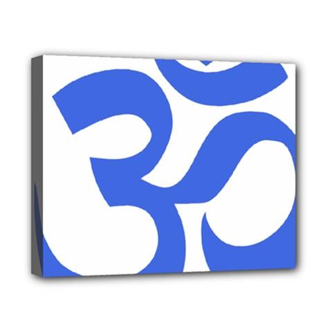 Hindu Om Symbol (royal Blue) Canvas 10  X 8  by abbeyz71