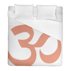 Hindu Om Symbol (salmon) Duvet Cover (full/ Double Size) by abbeyz71