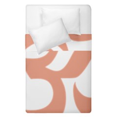Hindu Om Symbol (salmon) Duvet Cover Double Side (single Size) by abbeyz71