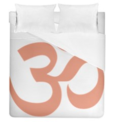 Hindu Om Symbol (salmon) Duvet Cover (queen Size) by abbeyz71