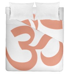 Hindu Om Symbol (salmon) Duvet Cover Double Side (queen Size) by abbeyz71