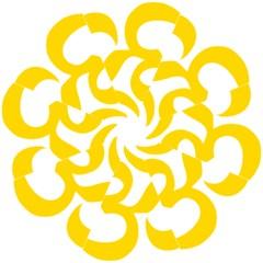 Hindu Om Symbol (yellow) Straight Umbrellas by abbeyz71
