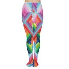 Rainbow Chem Trails Women s Tights