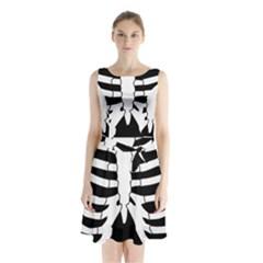 X Ray Sleeveless Waist Tie Chiffon Dress by Valentinaart
