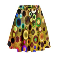Colorful Circle Pattern High Waist Skirt by Costasonlineshop
