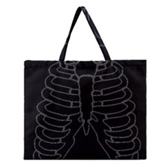 X Ray Zipper Large Tote Bag by Valentinaart