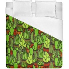 Cactus Duvet Cover (california King Size) by Valentinaart