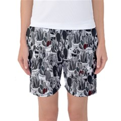 Cactus Women s Basketball Shorts by Valentinaart