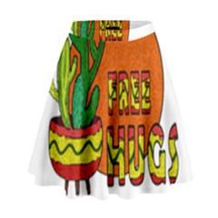 Cactus   Free Hugs High Waist Skirt by Valentinaart