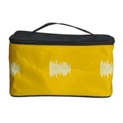 Waveform Disco Wahlin Retina White Yellow Cosmetic Storage Case by Mariart