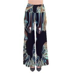 Silver Gold Hole Black Space Pants by Mariart