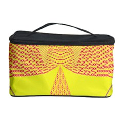 Wave Chevron Plaid Circle Polka Line Light Yellow Red Blue Triangle Cosmetic Storage Case by Mariart