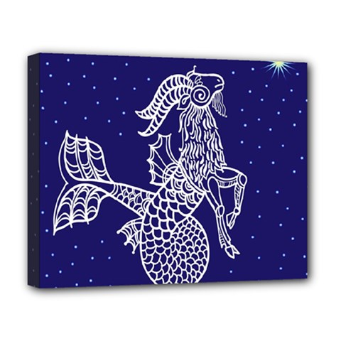 Capricorn Zodiac Star Deluxe Canvas 20  X 16   by Mariart