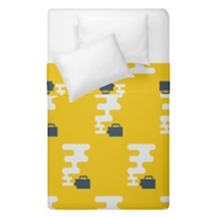 Fog Machine Fogging White Smoke Yellow Duvet Cover Double Side (single Size) by Mariart