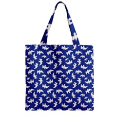 Birds Silhouette Pattern Zipper Grocery Tote Bag by dflcprintsclothing