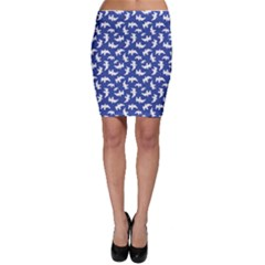 Birds Silhouette Pattern Bodycon Skirt by dflcprintsclothing