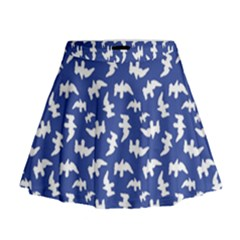 Birds Silhouette Pattern Mini Flare Skirt by dflcprintsclothing