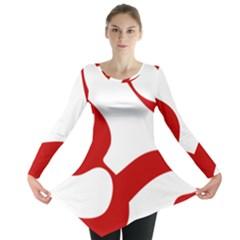 Hindu Om Symbol (red) Long Sleeve Tunic  by abbeyz71