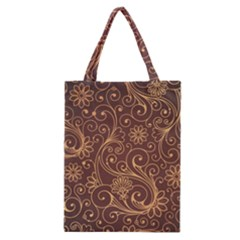 Gold And Brown Background Patterns Classic Tote Bag by Nexatart