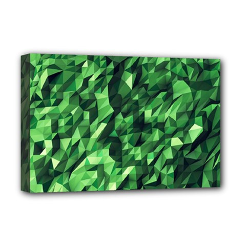 Green Attack Deluxe Canvas 18  X 12   by Nexatart