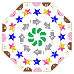 Cute Symbol Folding Umbrellas by Nexatart